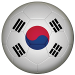 South Korea Football Flag 58mm Button Badge
